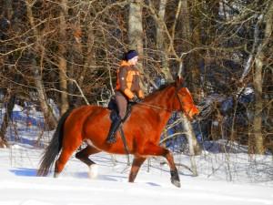 Katrīna ar zirgu Hiromants - Hopta.